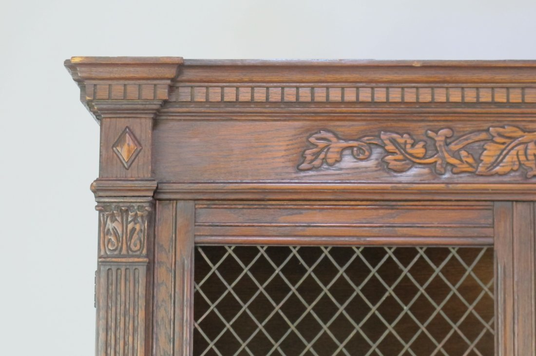 China Cabinet with Carved Detail - 3
