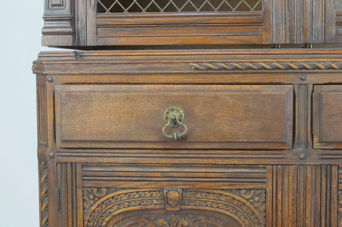 China Cabinet with Carved Detail - 4