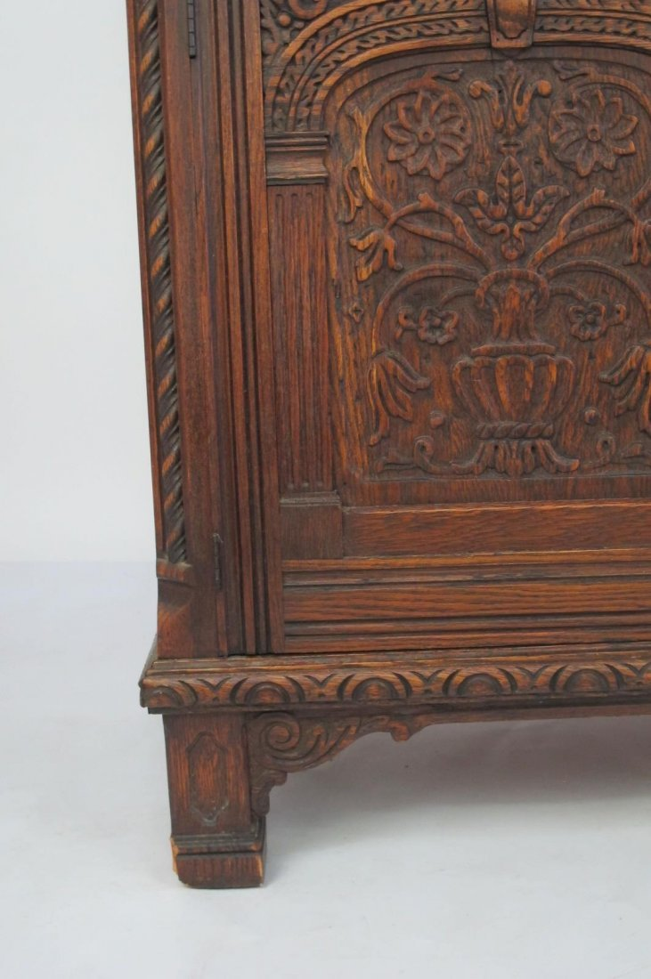 China Cabinet with Carved Detail - 5