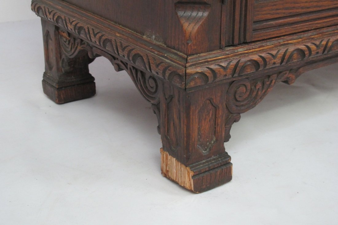China Cabinet with Carved Detail - 6