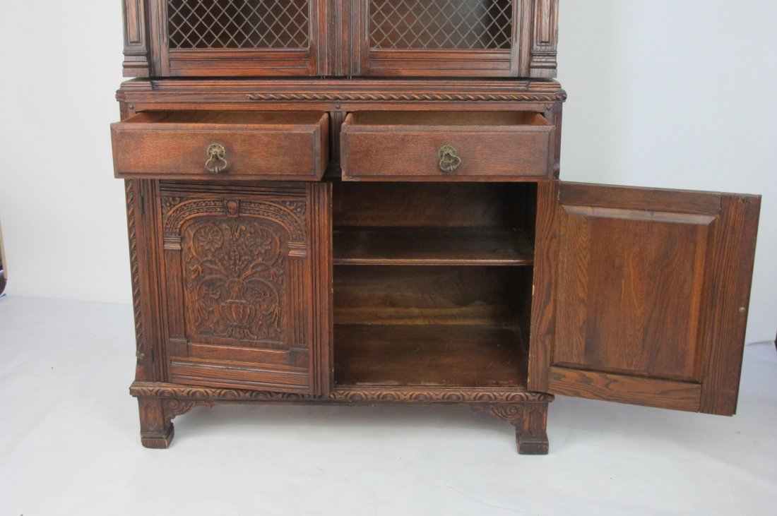 China Cabinet with Carved Detail - 7