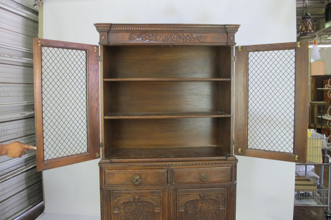 China Cabinet with Carved Detail - 9