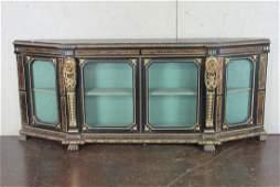Large Gilt Painted Carved Vitrine