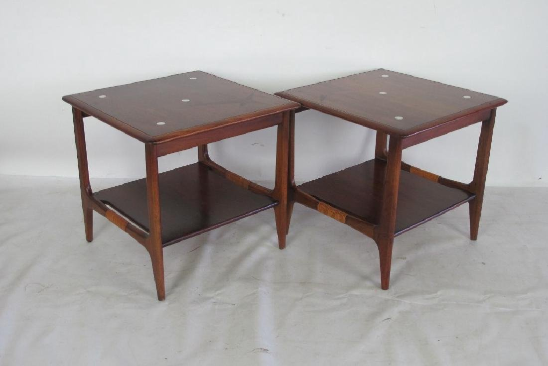 Pair of Inlaid Side Tables