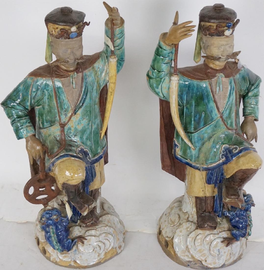 Pair of Chinese Ceramic Figures