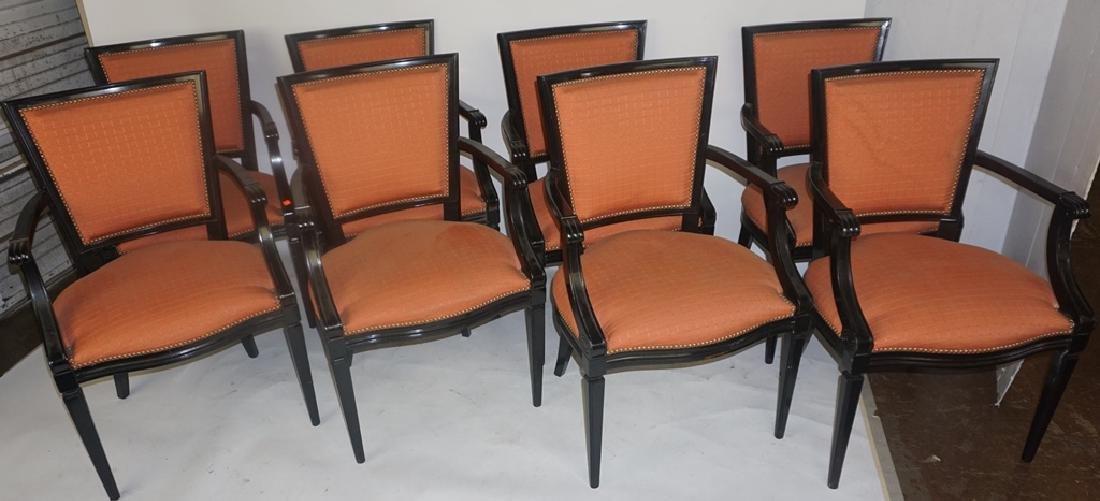 8 Black Armchairs