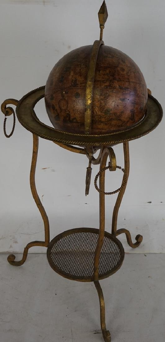 Vintage Globe and Stand