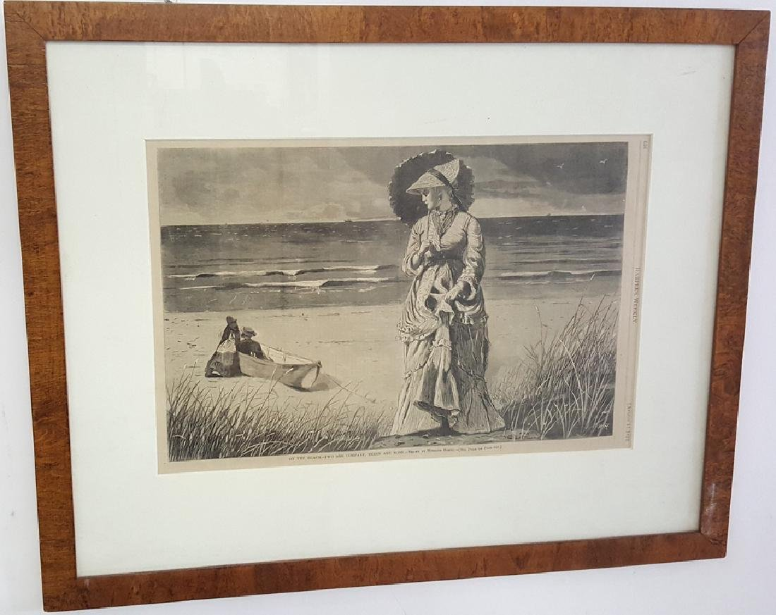 Winslow Homer Etching from Harper's Weekly