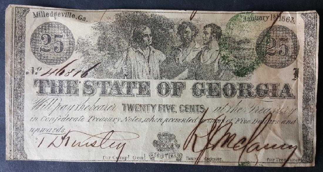 Grouping of Nine Confederate Bills
