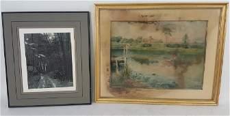 Two Signed Landscape Artworks