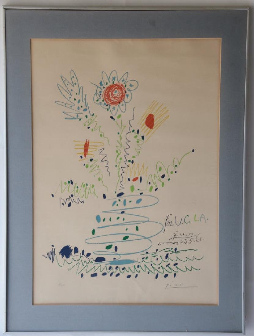 "Signed Pablo Picasso ""Summer Bouquet"" Print"