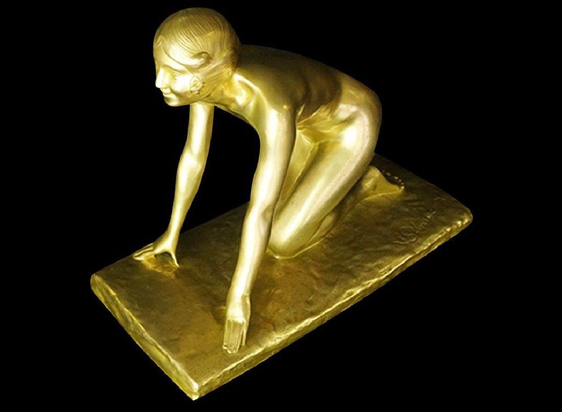 Paul Silvestre (1884-1976) Gilt Bronze Sculpture