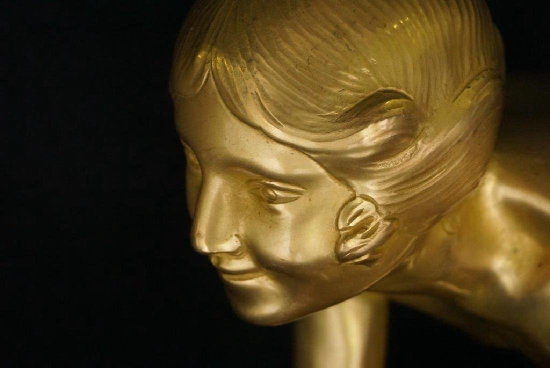 Paul Silvestre (1884-1976) Gilt Bronze Sculpture - 3