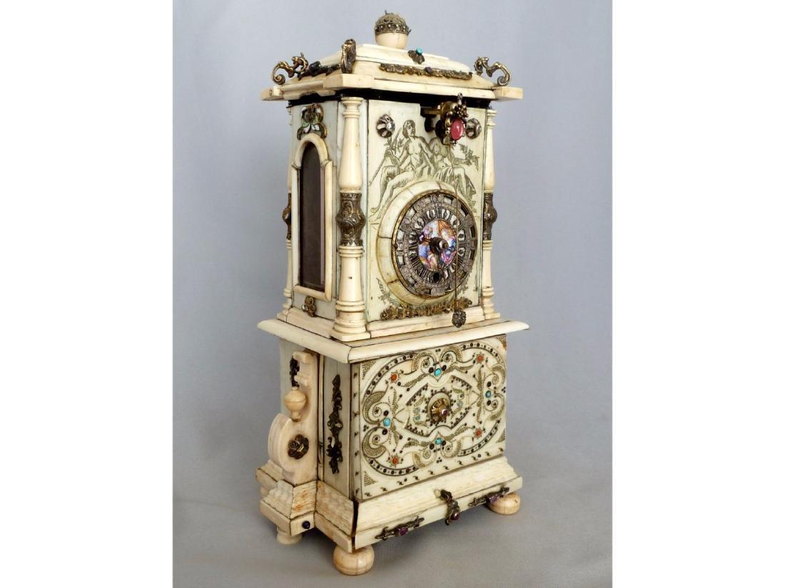Vienna Miniature Ivory Cabinet Clock