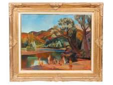 Jean Aujame (1905-1965) Oil on Canvas