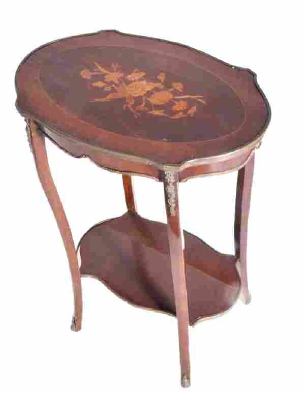 Louis XV Marquetry Table