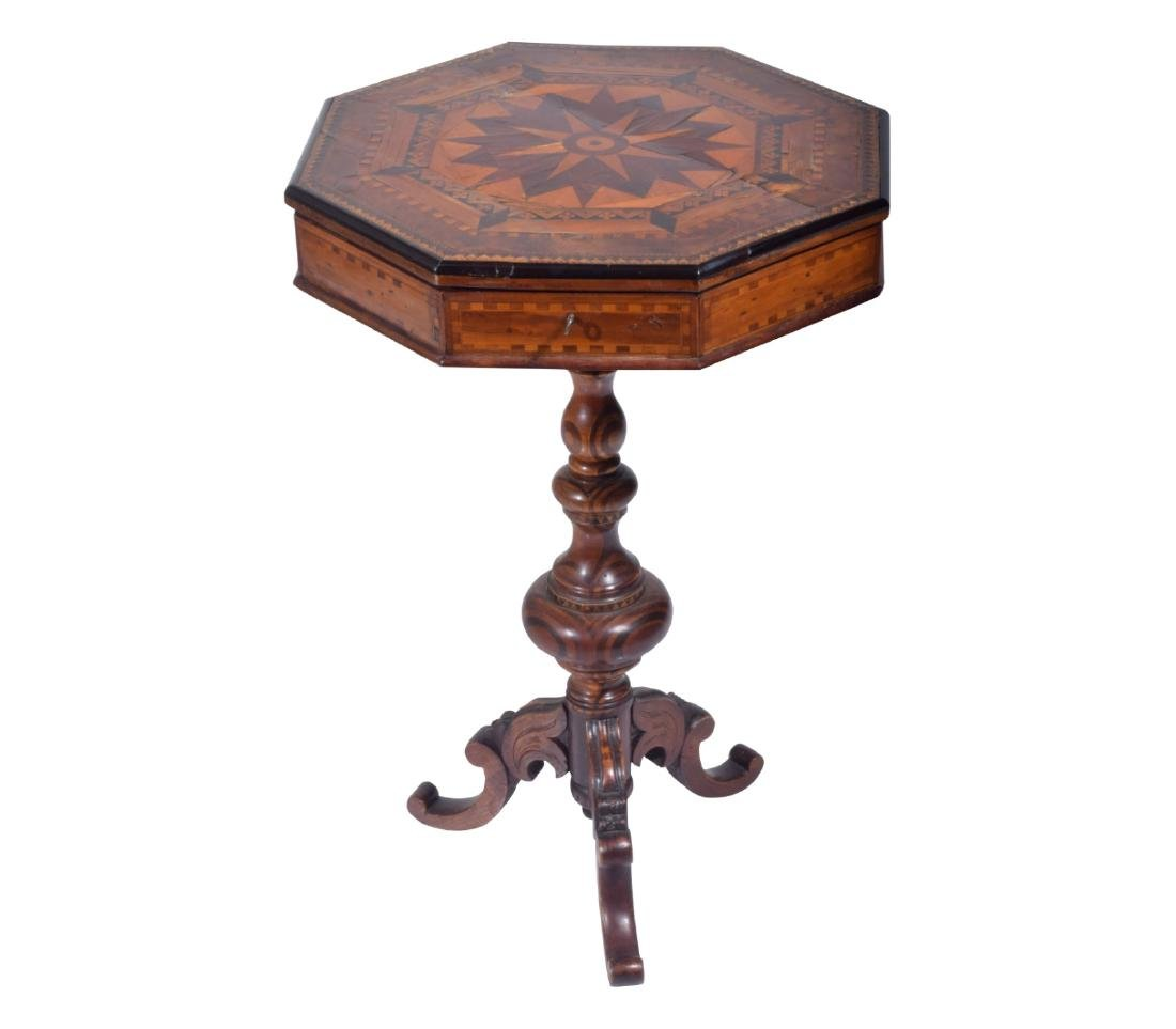 19th C. Octagonal Work Table
