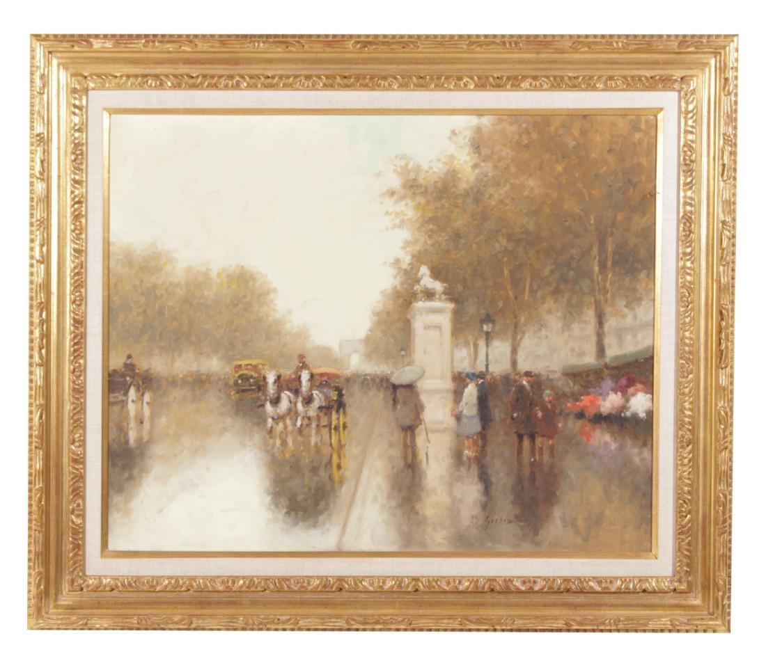 Andre Gisson (1928-2004)  Paris Street Scene