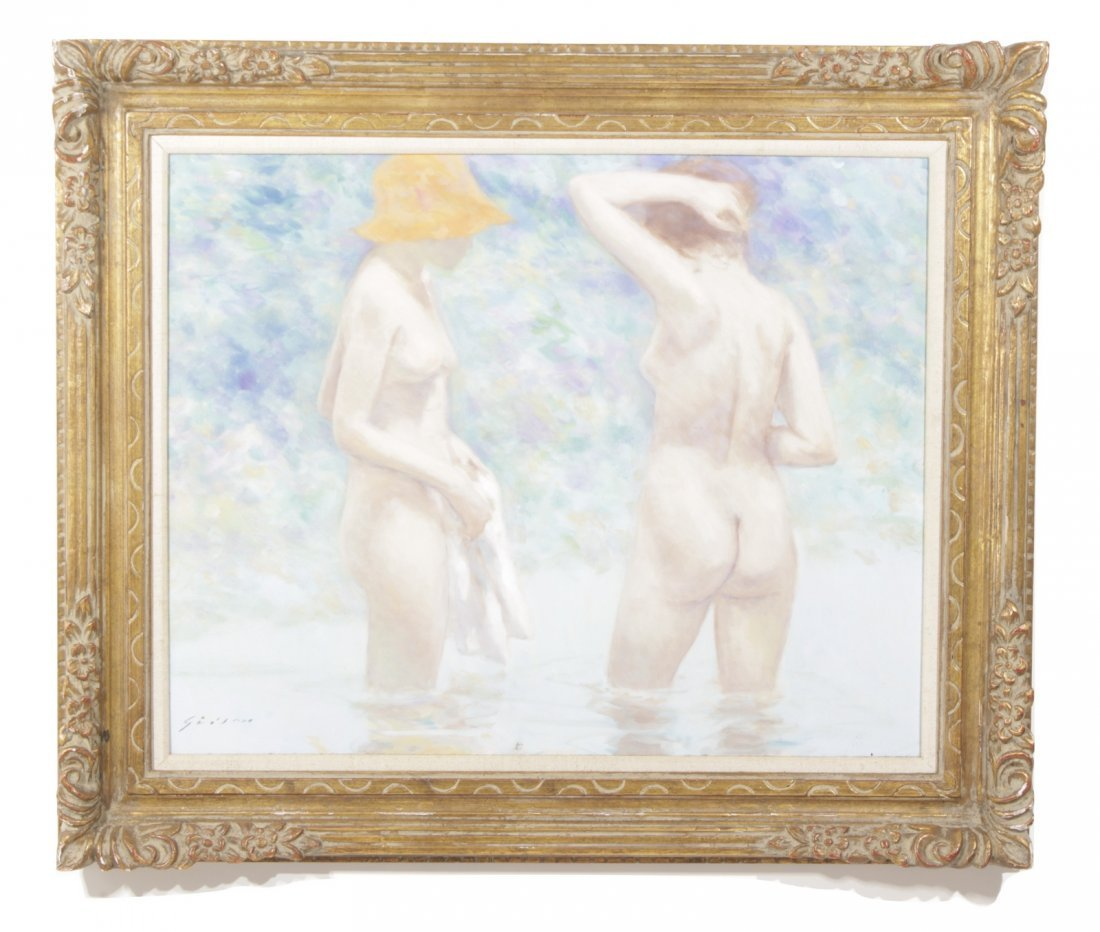 Andre Gisson (French, 1928-2004) Two Nudes