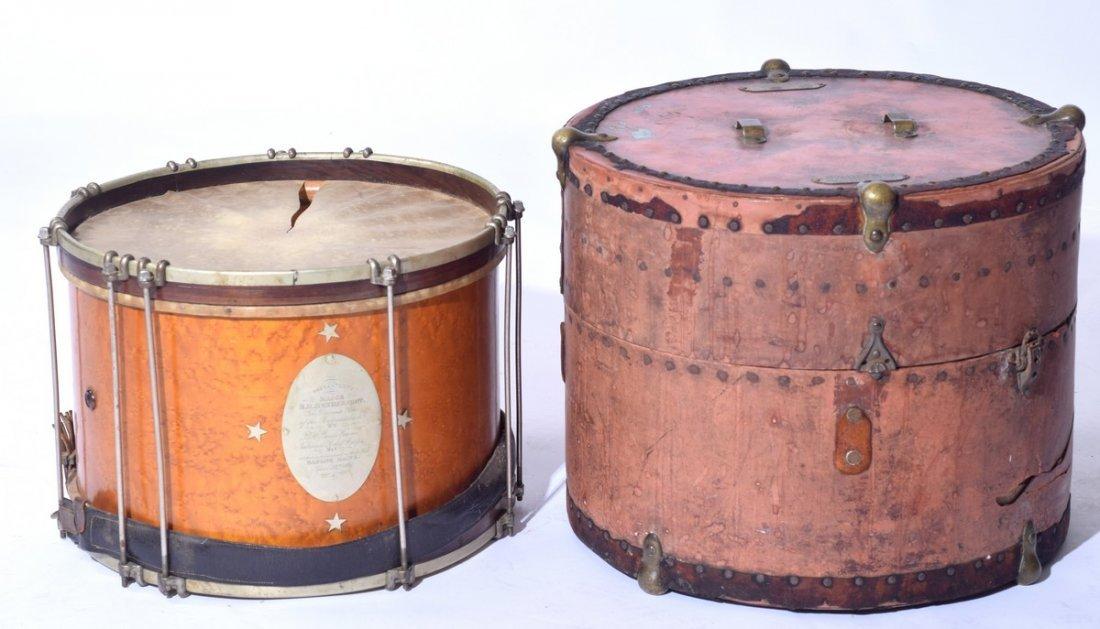 Civil War Hero Major Hendershot 19th C Drum
