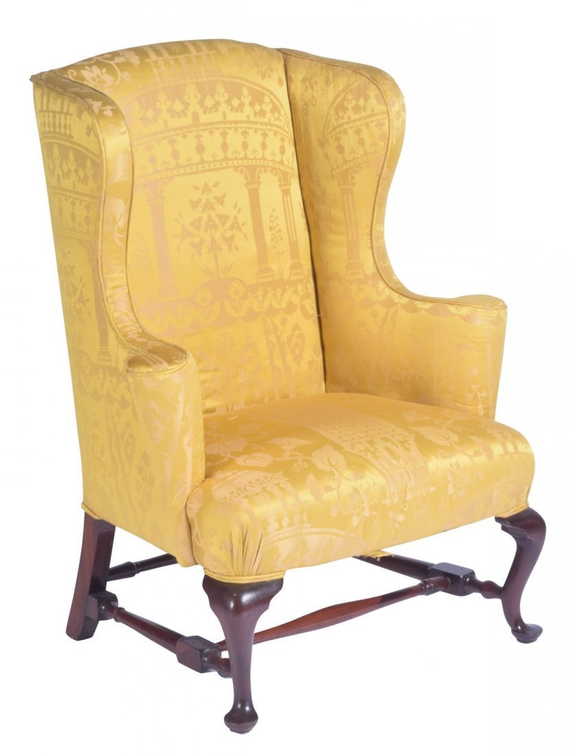 queen anne wing chair 18th or 19th c