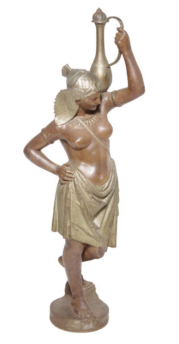19th C Egyptian Cast-Iron Figure