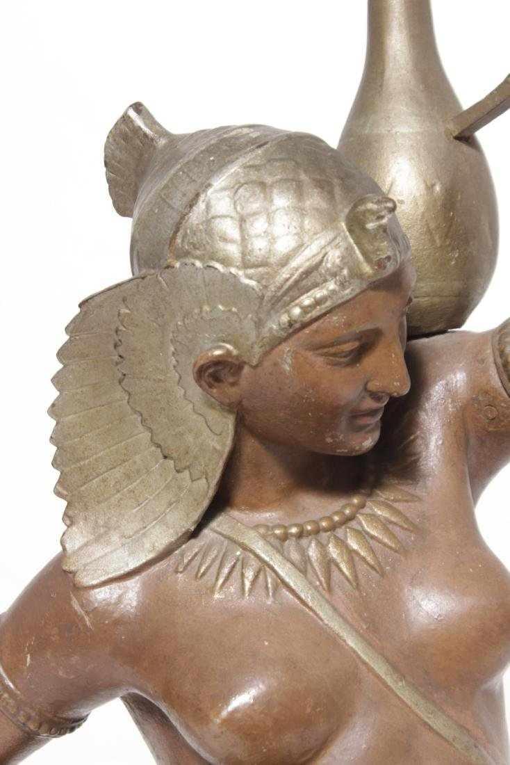 19th C Egyptian Cast-Iron Figure - 2