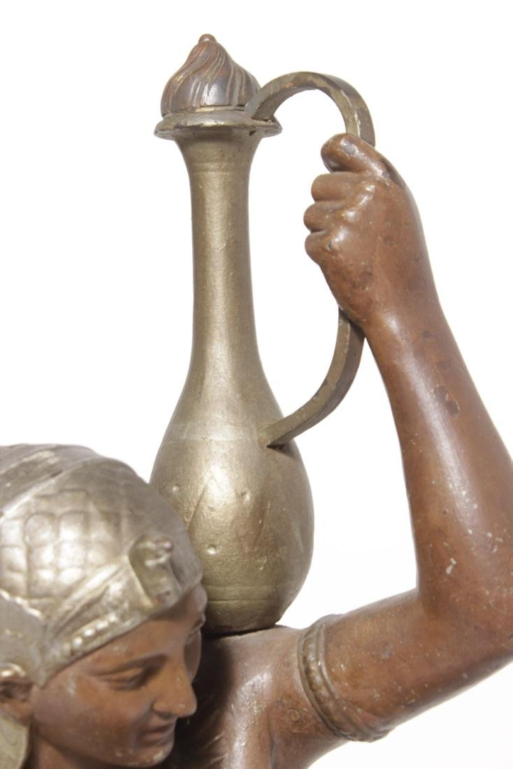 19th C Egyptian Cast-Iron Figure - 3