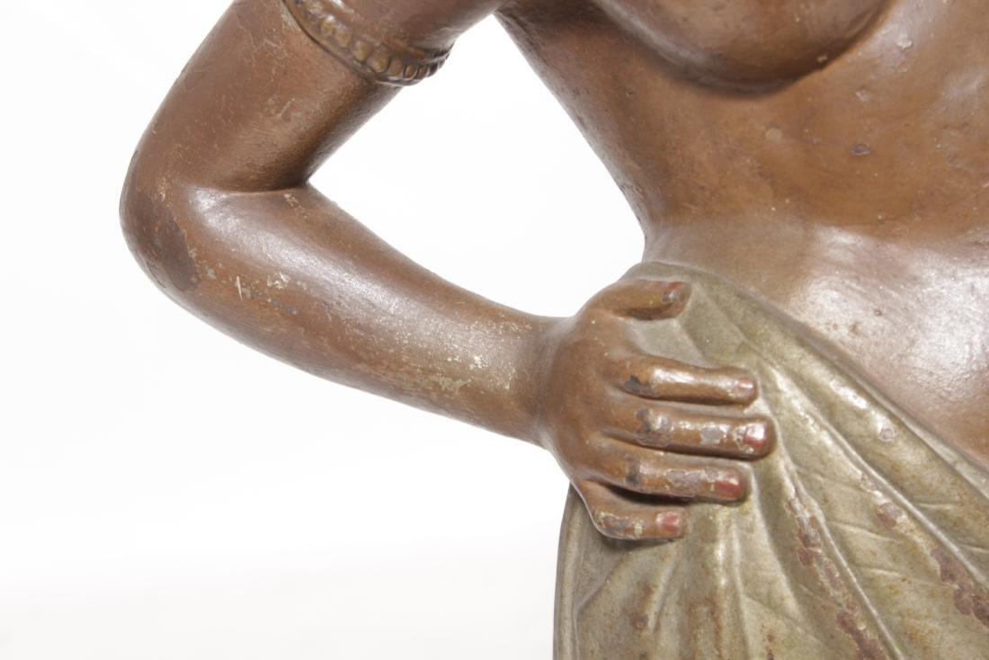 19th C Egyptian Cast-Iron Figure - 4