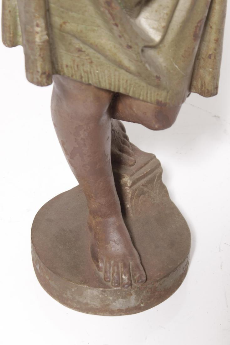 19th C Egyptian Cast-Iron Figure - 5