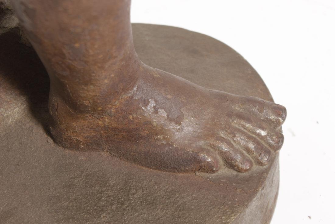 19th C Egyptian Cast-Iron Figure - 7