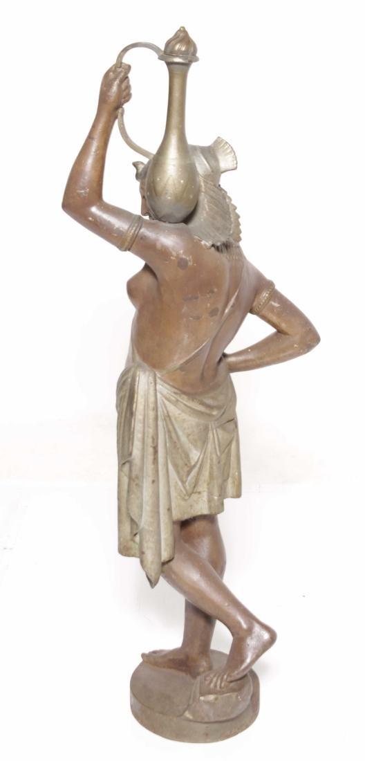 19th C Egyptian Cast-Iron Figure - 9