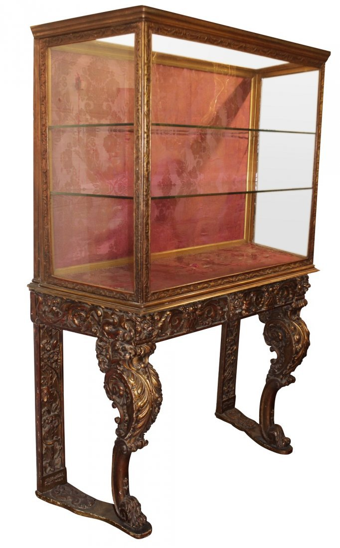 19th C Carved Venetian Vitrine