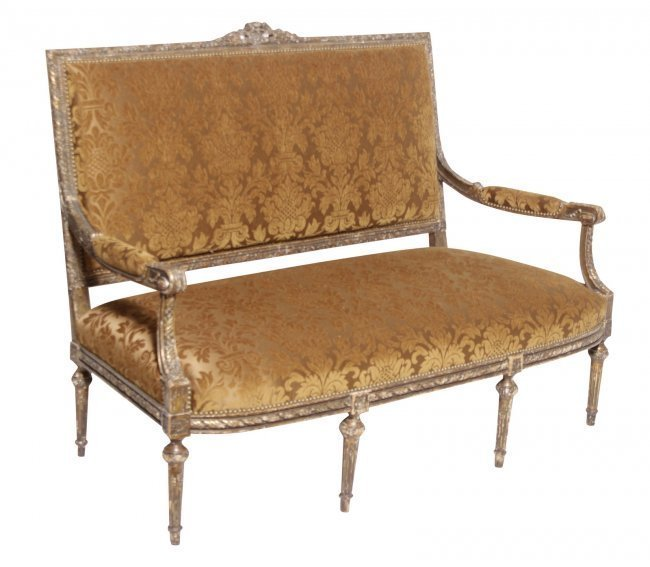 Louis XVI Giltwood Sofa