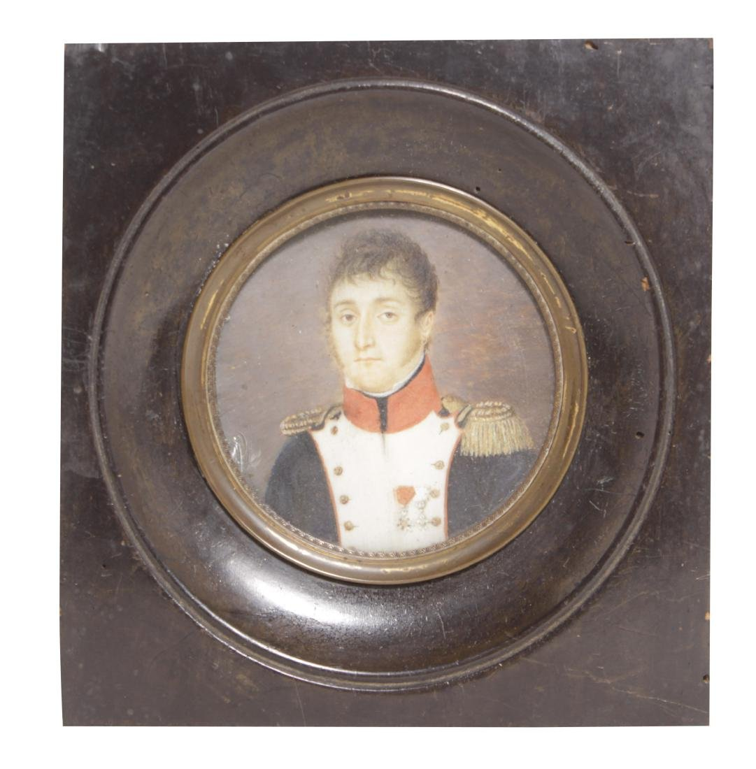 18th C. Miniature Painting of Naval Officer