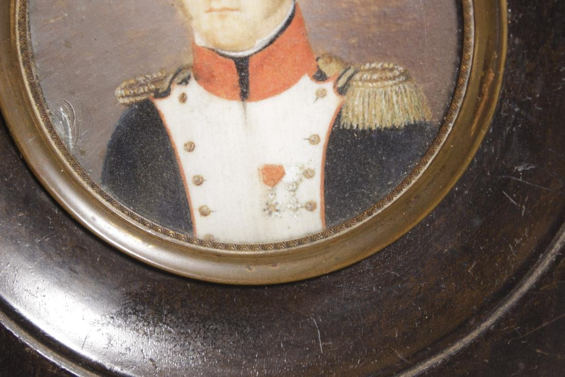 18th C. Miniature Painting of Naval Officer - 3