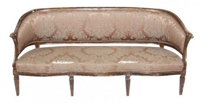 18th C Italian Painted Canapé