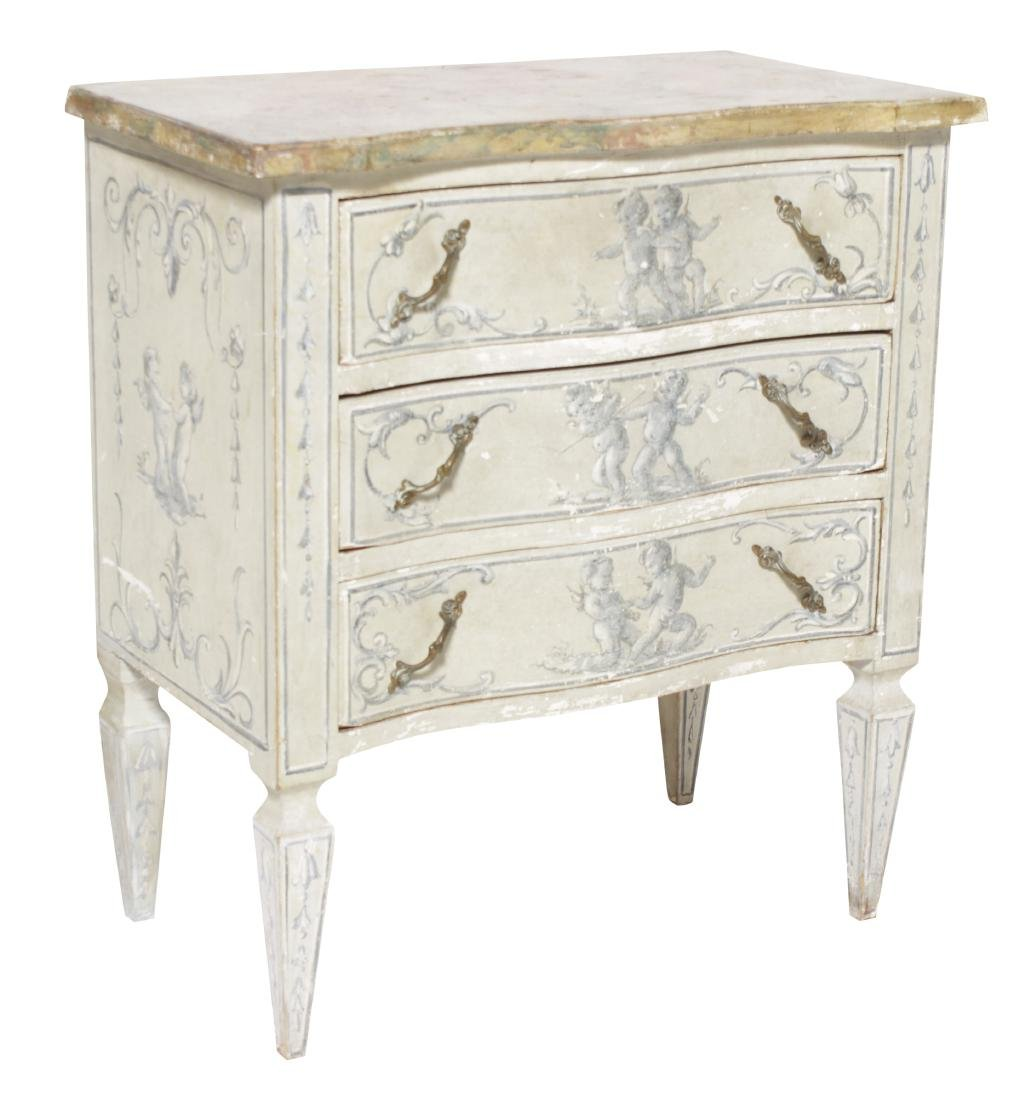 Painted Italian Louis XV Style Commode