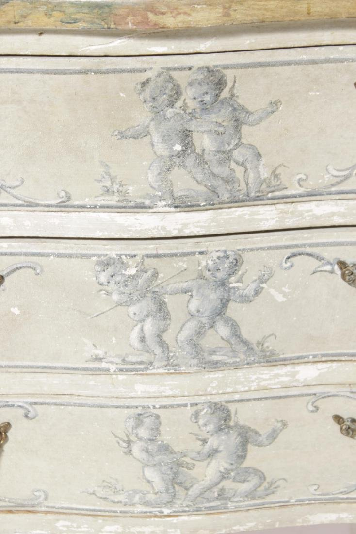 Painted Italian Louis XV Style Commode - 4