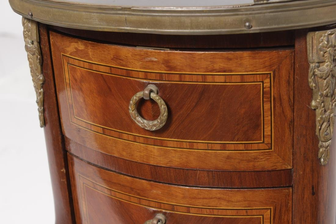 Louis XV Style Marquetry Side Table - 3