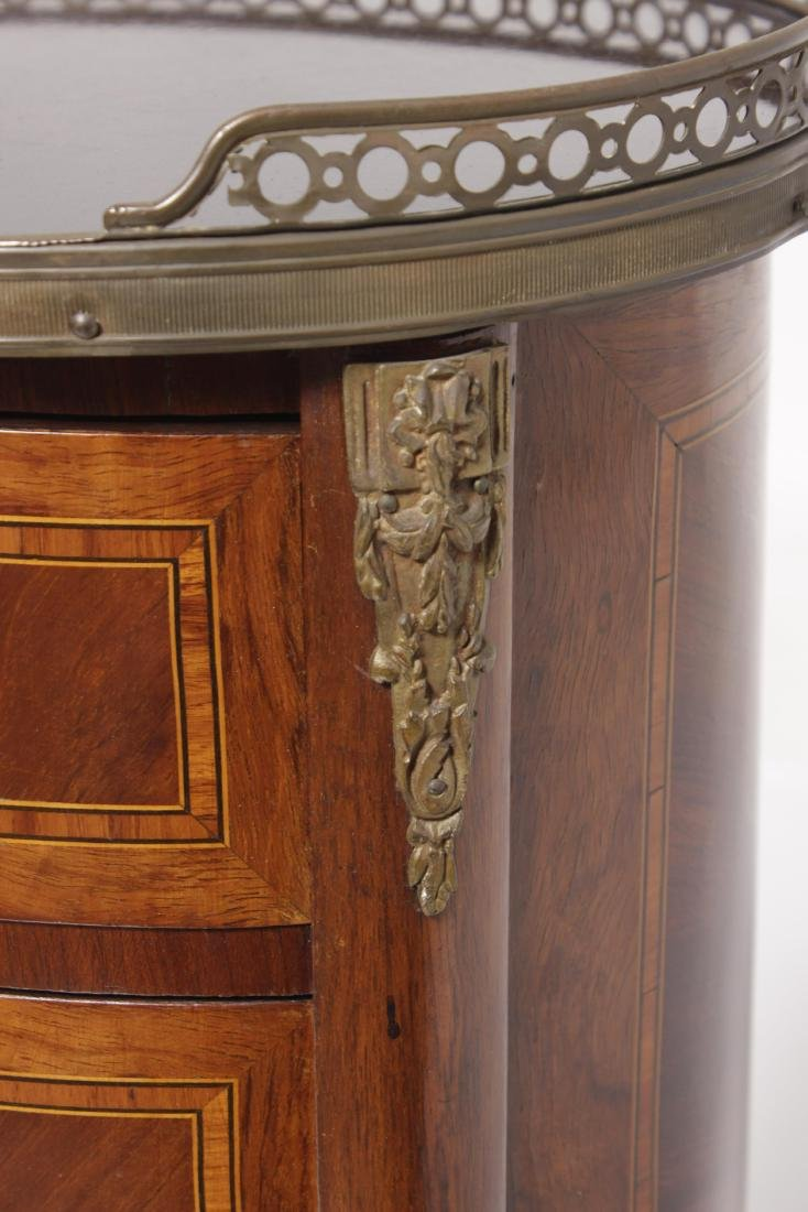 Louis XV Style Marquetry Side Table - 5
