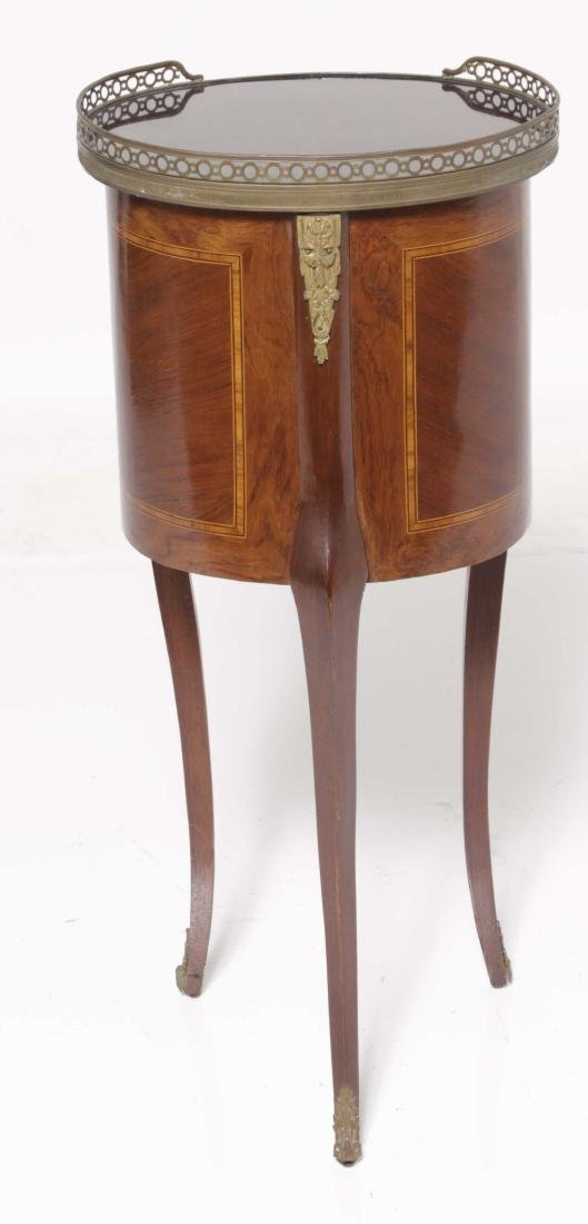 Louis XV Style Marquetry Side Table - 8