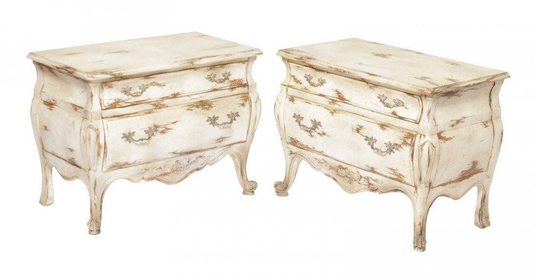 Pair Widdicomb Louis XV Style Diminutive Commodes
