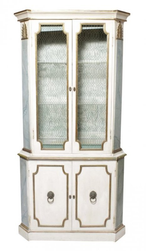 Hollywood Regency Painted Bookcase