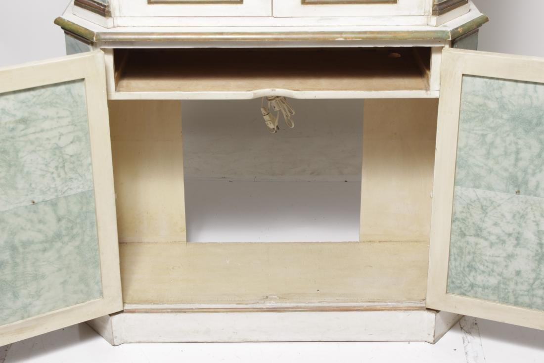 Hollywood Regency Painted Bookcase - 6