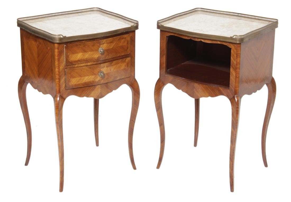 Louis XV Style Complementary Bedside Cabinets