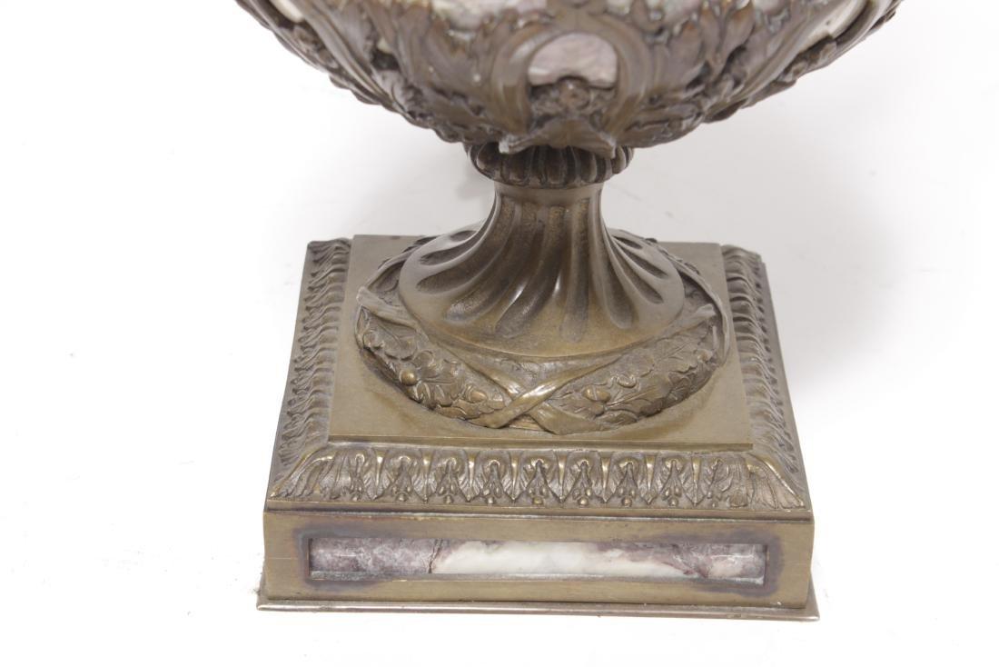 Large Bronze Marble Urn - 5