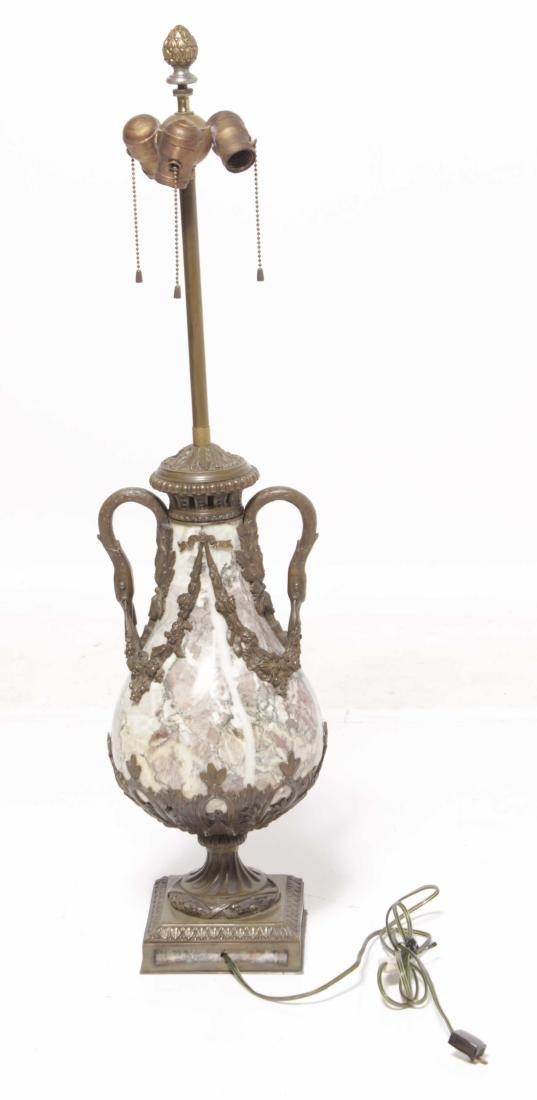 Large Bronze Marble Urn - 7