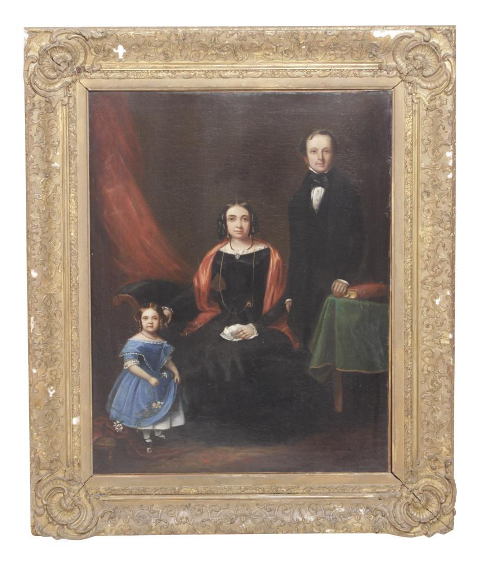 19th C Henry Leander Family Portrait