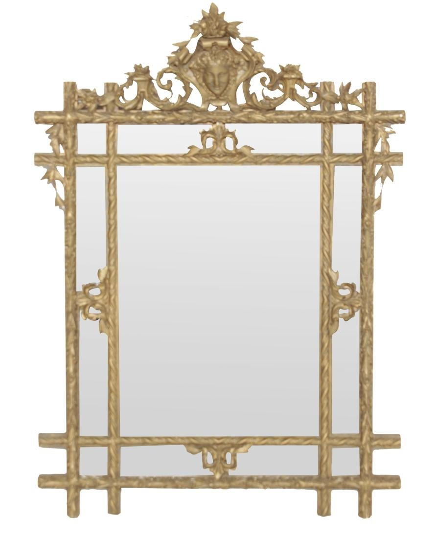 Large 19th C Giltwood Mirror